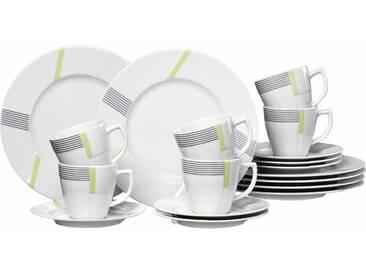 Kaffeeservice VERTIGO , weiß, Kaffeeservice, 18-teilig, spülmaschinengeeignet, Ritzenhoff & Breker