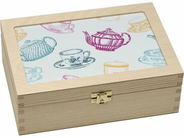Teebox , beige, »Tassen/Kannen grafisch«, Contento