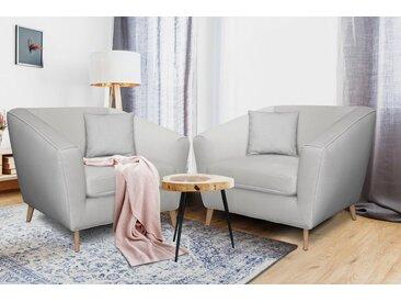 Home affaire Loveseat »Lea«, grau, FSC-Zertifikat, , , FSC®-zertifiziert