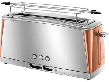 RUSSELL HOBBS Toaster »Luna Copper Accents 24310-56« braun