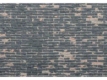Komar Vlies Fototapete  »Painted Bricks«, grau, 368/248, FSC®-zertifiziert