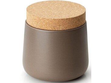 Vorratsdose, Keramik, Kork, 14x14,5 cm, grau, H, lebensmittelecht, , , Continenta