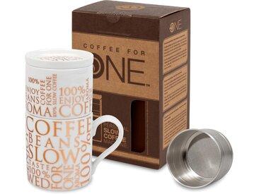 Kaffeebereiter 100% on white, braun, Größe: 0,33l, Könitz