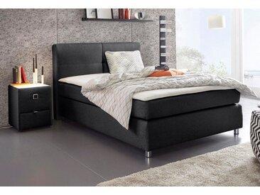 Boxspring-Bett, schwarz, 140x200 cm, Feinstruktur, Härtegrad 2, Jockenhöfer Gruppe