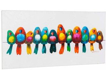 Acryl-Glasbild , bunt, 120x60cm, »Bunte Vögel«, Schneider