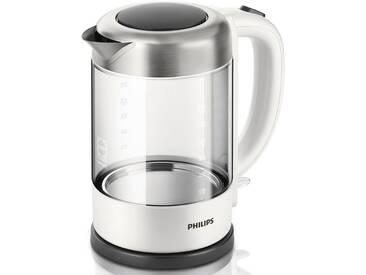 Philips Wasserkocher, Glas HD9340/00, 1,5 Liter, 2200 Watt weiß