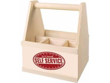 Besteck Caddy , beige, »Self Service«, Contento
