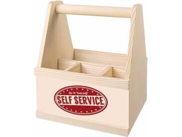 Besteckträger , beige, »Self Service«, Contento