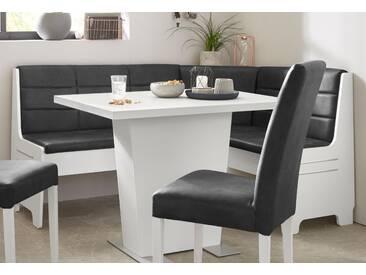 Truhen-Eckbank , weiß, weiß/vintage anthrazit, »Carola«, FSC®-zertifiziert, yourhome