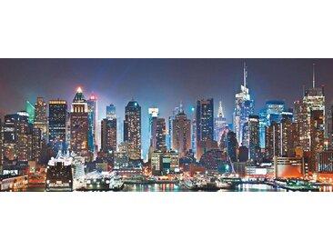 Glas-Bild , schwarz, 125x50cm, »New York City-Times Square«, Places of Style