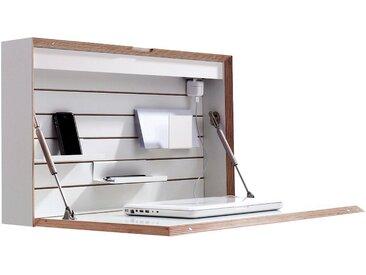 Wandsekretär »FLATBOX«, weiß, Leuchtstoffröhre / Steckdose, Müller