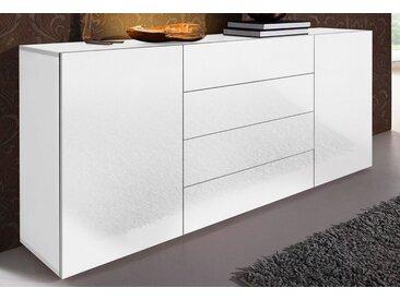 Sideboard, weiß, Hochglanz, mit Schubkästen, Places of Style