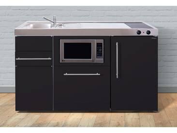 Miniküche aus Metall in der Farbe Schwarz, schwarz, »MPGSM 150«, Energieeffizienzklasse: A, Stengel