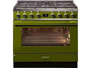 Gas-Standherd CPF9GPAND, grün, Energieeffizienzklasse: A+, Smeg
