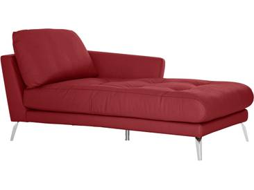 Chaiselongue mit Heftung »softy«, rot, Armlehne rechts, W.SCHILLIG
