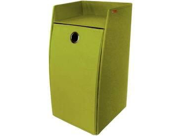 Wäschebox, grün, eckig, Franz Müller Flechtwaren