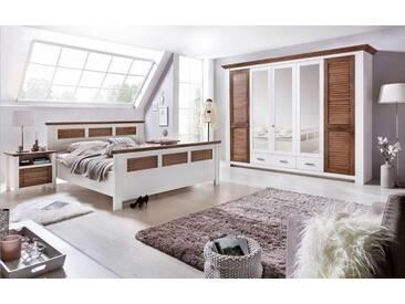 Premium collection by Home affaire Schlafzimmer-Set  »Laguna« weiß, Kleiderschrank 5trg, Bett 180cm, 2x Nako, FSC®-zertifiziert