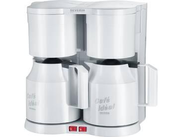 Filterkaffeemaschine Duo-Kaffeeautomat KA 5827, weiß, Severin