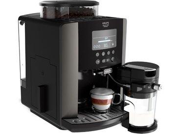 Kaffeevollautomat EA819E Arabica Latte Quattro Force, schwarz, Krups