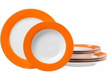 Tafelservice , orange, spülmaschinengeeignet, Ritzenhoff & Breker