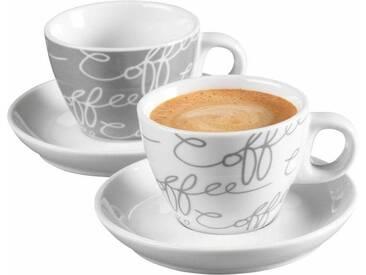 Espressotasse Cornello Grey , weiß, Espresso-Set, 4-teilig, spülmaschinengeeignet, Ritzenhoff & Breker