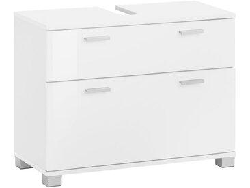 Waschbeckenunterschrank , weiß, FSC-Zertifikat, »Rowan«, , , Hochglanz-Fronten, FSC®-zertifiziert, welltime