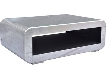Couchtisch in moderner Flugzeugoptik »AIRMAN«, silber, 120/80cm, FSC®-zertifiziert, SIT