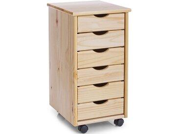 Home affaire Zeller Rollcontainer mit 6 Schubladen, beige