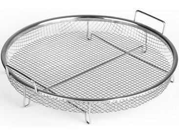 Backrost, silber, Ø 31 x 3cm, rund, , , spülmaschinengeeignet, GOURMETmaxx