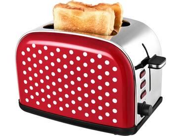 Toaster TKG TO 1045 RWD, rot, Team Kalorik