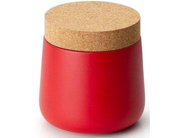 Vorratsdose, Keramik, Kork, 14x14,5 cm, rot, H, lebensmittelecht, , , Continenta