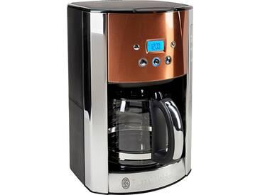 RUSSELL HOBBS Filterkaffeemaschine Luna Copper Accents 24320-56, 1,5l Kaffeekanne, Papierfilter 1x4 silber