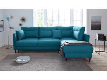 Trendmanufaktur Polsterecke grün, Inklusive Bettfunktion und Bettkasten, Recamiere rechts, FSC®-zertifiziert