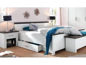 Home affaire Bett »Siena«, weiß, 100x200cm Höhe Bettseite: 48cm, FSC-Zertifikat, , , FSC®-zertifiziert