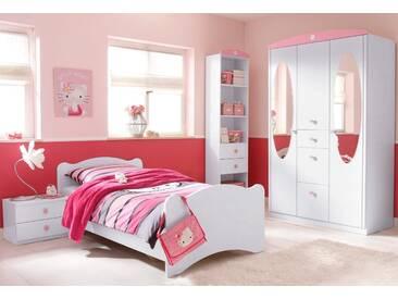 PACK´S Jugendzimmer-Set weiß, mit 3-türigem Schrank, »Tabea«, rauch
