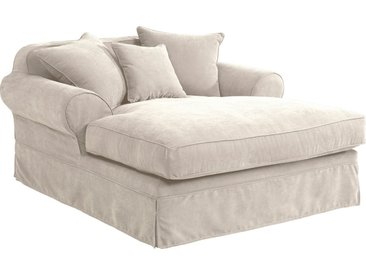 Hussen-Longchair , beige, FSC-Zertifikat, »Helene«, , , FSC®-zertifiziert, inklusive loser Zier- und Rückenkissen, Max Winzer®