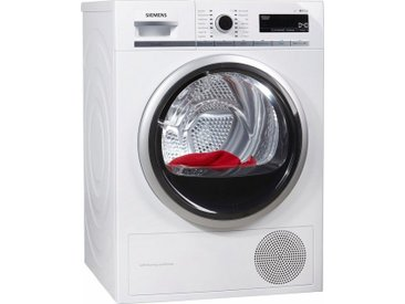 SIEMENS Wärmepumpentrockner iQ700 WT47W5W0, weiß, Energieeffizienzklasse: A+++
