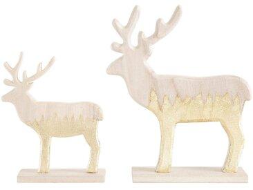 Tier-Figur , beige, H: 19,5/26,5 cm, »Rentier«, CHRISTMAS GOODS by Inge