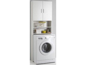 FMD Waschmaschinenüberbau mit 2 offenen Fächern »Olbia«, weiß