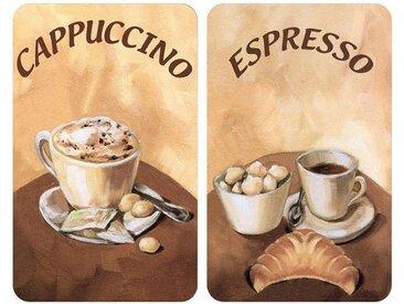 WENKO Herdabdeckplatte »Kaffee«, braun