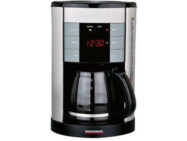 Filterkaffeemaschine 42703 Design Coffee Aroma Plus silber, Gastroback