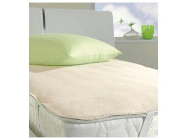 Matratzen-Auflage , , 0,5 cm hoch, Baumwolle, weiß, »Pure 5514«, IBENA