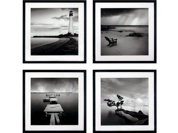 G&C Kunst-Druck , schwarz, 50x50cm, »Levy: Beach Bilderset«