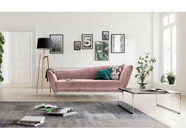 Chaiselongue , rosa, hohe Lehne rechts, 222cm, »Vittoria«, GALLERY M