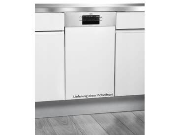 Teilintegrierbarer Geschirrspüler FEB51400ZM, silber, Energieeffizienzklasse: A+, AEG