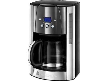 RUSSELL HOBBS Filterkaffeemaschine Luna Moonlight Grey 23241-56, 1,5l Kaffeekanne, Papierfilter 1x4, silber