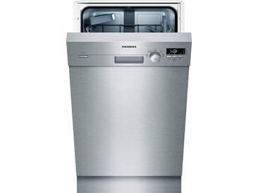 SIEMENS Unterbaugeschirrspüler, SR415S03CE, 8,5 l, 9 Maßgedecke, 45 cm breit, Energieeffizienz: A+, silber, Energieeffizienzklasse: A+