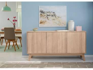 GMK Home & Living Großes Sideboard beige, », im modernen, skandinavischen Design, Breite/Höhe 158/80 cm«, pflegeleichte Oberfläche, Push to open-Funktion, FSC®-zertifiziert, Guido Maria Kretschmer Home&Living
