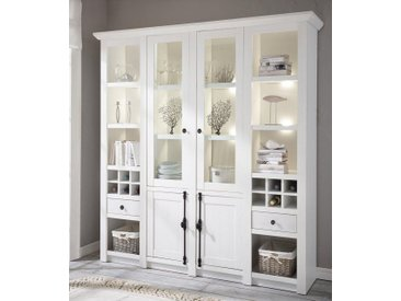Home affaire Vitrine , weiß, Landhaus-Stil, »California«, , , FSC®-zertifiziert
