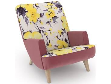 build-a-chair Loungesessel »Borano« gelb, Korpus: Samtvelours rosé, FSC®-zertifiziert, Max Winzer®